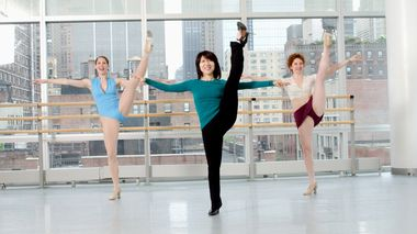 Jazz class at the Ailey Extension