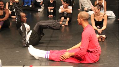 Hope Boykin and Yannick Lebrun with master class students at Ecole Miroir in Paris, France