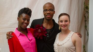 Ailey dancers Rachael McLaren, Jermaine Terry and Megan Jakel