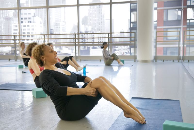 Pilates class at Ailey Extension