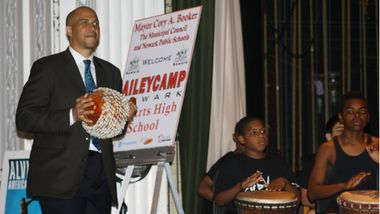 Mayor Cory A. Booker with Newark AileyCampers