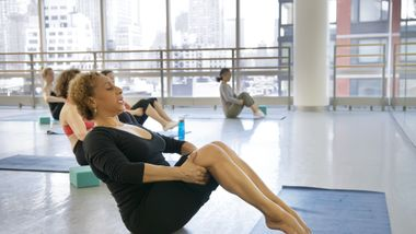 Sarita Allen teaching Pilates. Photo by Kyle Froman