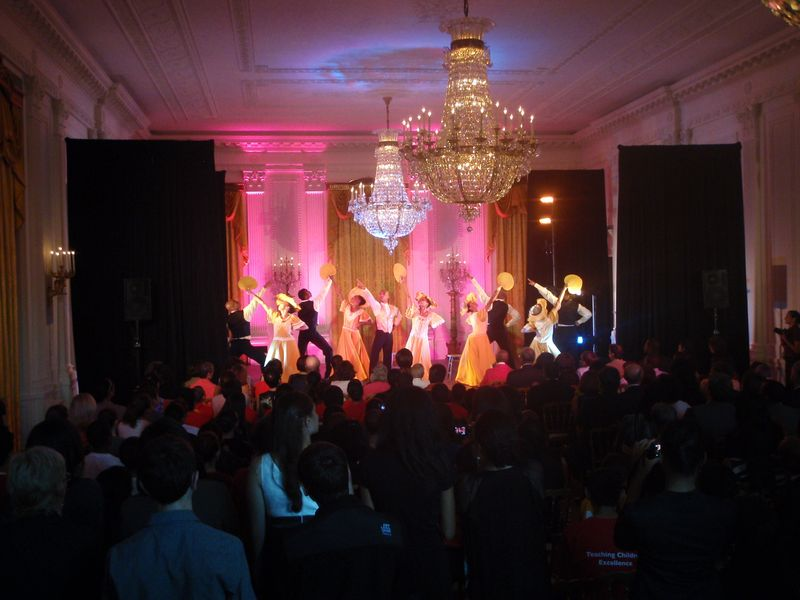 Alvin Ailey American Dance Theater perform Alvin Ailey's Revelations in the White House East Room