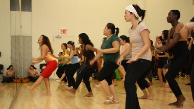 Samba class at The Ailey Extension