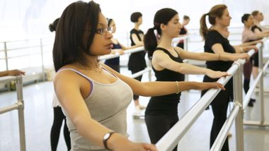 Ballet class at the Ailey Extension
