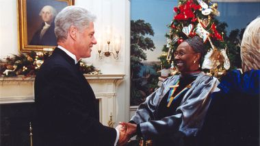 Judith Jamison with Bill Clinton at Kennedy Center Honors