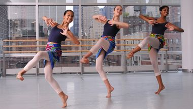 The Ailey School Junior Division Students in West African class