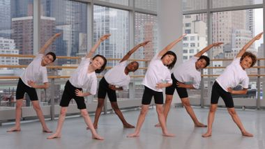 The Ailey School Athletic Boys in Horton class
