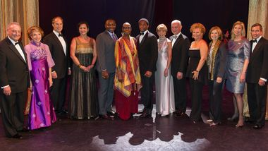 Gala Co Chairs and Honorees with Artistic Director Robert Battle, Artistic Director Emerita Judith Jamison and Chadwick Boseman