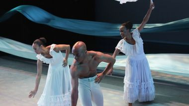 Constance Stamatiou, Matthew Rushing, and Renee Robinson in Alvin Ailey's Revelations
