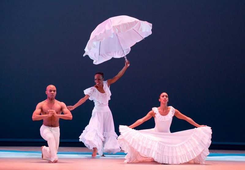 Matthew Rushing, Renee Robinson, and Constance Stamatiou in Alvin Ailey's Revelations