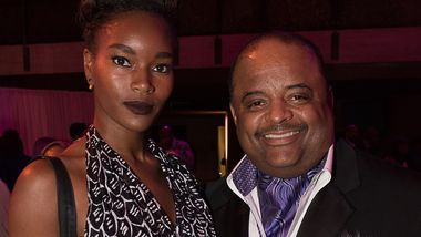 Damaris Lewis and Honorary Chair Roland Martin