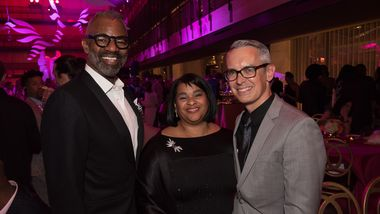 Tony Coles, Robyn Coles, and Executive Director Bennett Rink