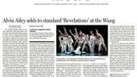 The Boston Globe - Alvin Ailey Adds To Standard 'Revelations' At The Wang