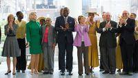 Board Chairman Daria Wallach, Elaine P. Wynn, Eleanor Applewhaite, Artistic Director Robert Battle, Chairman Emerita Joan H. Weill, Sandy Weill, Tom Finklepearl, Ailey II
