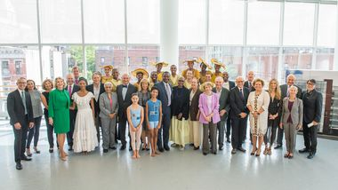 Ailey Board of Trustees with Ailey Leadership, Ailey II and students from The Ailey School