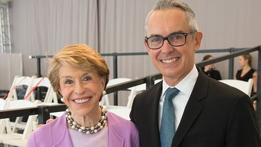 Board Chair Emerita Joan H. Weill and Executive Director Bennett Rink