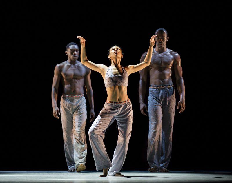 Chalvar Monteiro, Ghrai Devore, Jamar Roberts in Kyle Abraham's Untitled America