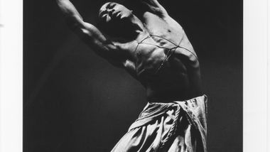Alvin Ailey in Alvin Ailey's Hermit Songs. Photo by Jack Mitchell. (©) Alvin Ailey Dance Foundation, Inc. and Smithsonian Institution