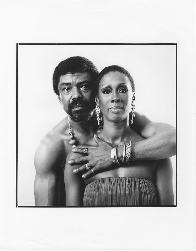 Alvin Ailey and Judith Jamison. Photo by Jack Mitchell. (©) Alvin Ailey Dance Foundation, Inc. and Smithsonian Institution