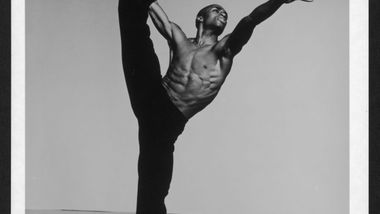 Desmond Richardson in Alvin Ailey's Revelations. Photo by Jack Mitchell. (©) Alvin Ailey Dance Foundation, Inc. and Smithsonian Institution