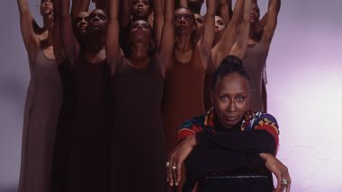 Judith Jamison and the Company rehearsing Revelations. Photo by Jack Mitchell. (©) Alvin Ailey Dance Foundation, Inc. and Smithsonian Institution