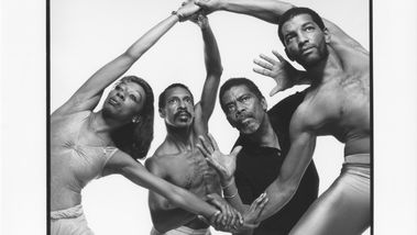 Marilyn Banks, Dudley Williams, Alvin Ailey, Gary Deloatch (1988). Photo by Jack Mitchell. (©) Alvin Ailey Dance Foundation, Inc. and Smithsonian Institution