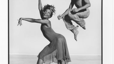Renee Robinson, Carl Bailey in Donald McKayle's Rainbow 'Round My Shoulder. Photo by Jack Mitchell. (©) Alvin Ailey Dance Foundation, Inc. and Smithsonian Institution