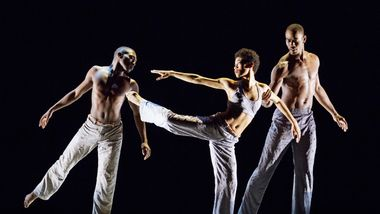 Chalvar Monteiro, Ghrai DeVore and Jamar Roberts in Kyle Abraham's Untitled America