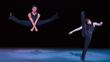 Alvin Ailey American Dance Theater's Jacquelin Harris and Megan Jakel in Robert Battle's Ella