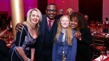 Artistic Director Robert Battle and co-chair Gina Adams with Dahlia Neiss and daughter at Ailey's 2017 DC Gala