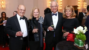 Board chairman Daria Wallach, Eric Wallach (right) with guests at Ailey's 2017 DC Gala