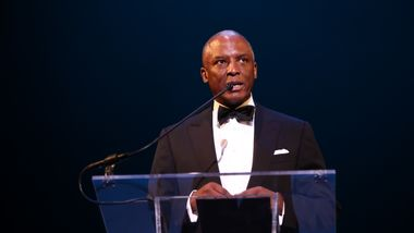 Chris Womack speaks at at Ailey's 2017 DC Gala