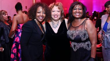 Co-Chair Gina Adams, Marcella Jones and guest at Ailey's 2017 DC Gala