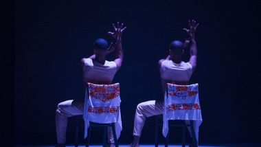 Former Ailey II dancers Marcus Williams and Christopher R. Wilson in Touch & Agree by Juel D. Lane. Photo by Shoccara Marcus