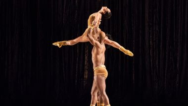 AAADT's Linda Celeste Sims, Glenn Allen Sims and Chalvar Monteiro in Twyla Tharp's The Golden Section