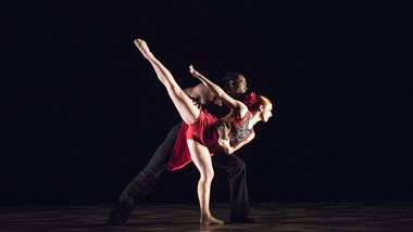 Tara Bellardini and Lloyd Boyd III in Bridget L. Moore's Sketches of Flames