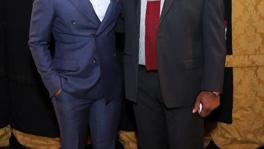 Honorary Chair André Holland & Artistic Director Robert Battle. Photo by Donna Ward.