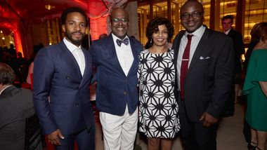 Honorary Chair André Holland, Gala Co-Chairs Marc and Almaz Strachan, and Artistic Director Robert Battle. Photo courtesy of Ailey.