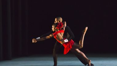 Ailey II's Terri Ayanna Wright and Christopher R. Wilson in Bridget L. Moore's Sketches of Flames. Photo by Kyle Froman