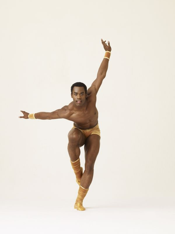 Alvin Ailey American Dance Theater's Jamar Roberts in Twyla Tharp's The Golden Section.  Photo by Andrew Eccles