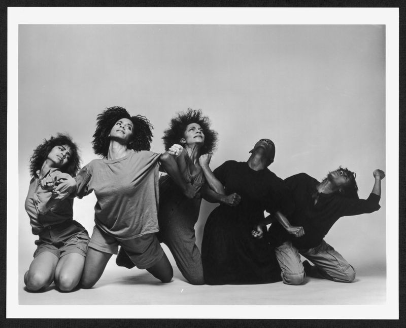 Alvin Ailey American Dance Theater in Jawole Willa Jo Zollar's Shelter. (circa 1992) Photo by Jack Mitchell.  (©) Alvin Ailey Dance Foundation, Inc. and Smithsonian Institution