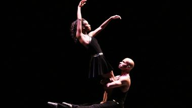 AAADT's Rachael McLaren and Glenn Allen Sims in Ulysses Dove's Episodes. Photo by Francette Levieux