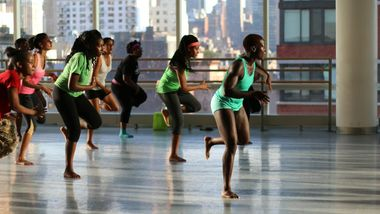 Kukuwa African Dance Workout at Ailey Extension. Photo by Jacqueline Chang.