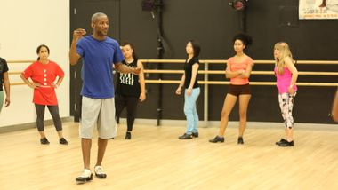 Tap Class with Marshall Davis Jr. at Ailey Extension. Photo by Jacqueline Chang.