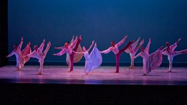Alvin Ailey American Dance Theater in Alvin Ailey's Memoria. Photo by Steve Wilson