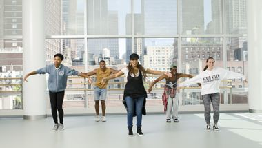 Hip-Hop with Robin Dunn. Photo By Kyle Froman.