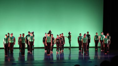 New York AileyCampers Performing a Jazz Piece at the 2017 Final Performance.