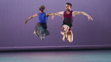 Ailey II's Jessica Amber Pinkett and Adrien Picaut in Darrell Grand Moultrie's Road to One. Photo by Kyle Froman