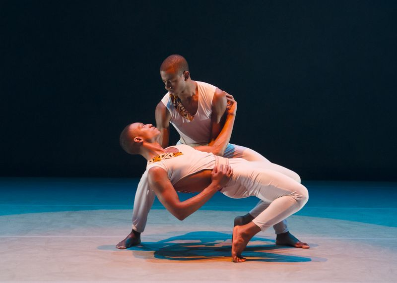Marcus Williams and Christopher R. Wilson in Juel D. Lane's Touch & Agree. Photo by Kyle Froman